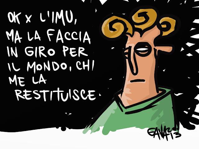 gavavenezia gava satira vignette venezia politica caricature ridere berlusconi mondo imu figure di merda riccioli giro faccia