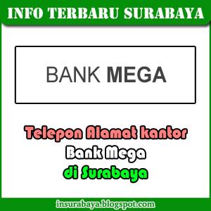 telepon alamat kantor bank Mega di Surabaya