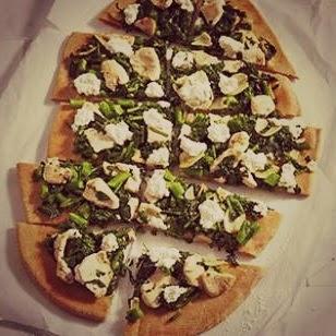 White Pizza With Broccolini