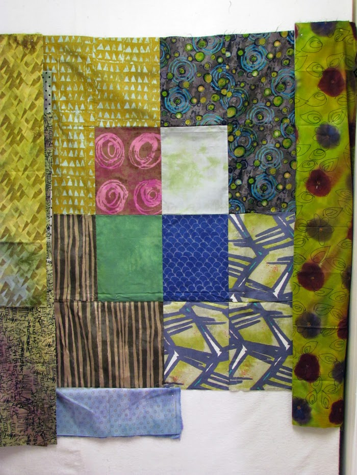 Auditioning borders for my newest modern quilt - Marty Mason