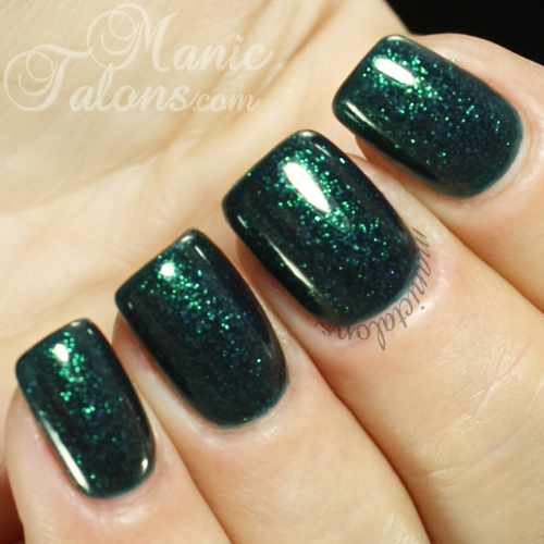 Madam Glam Gel Polish 164 Glittery Emerald Swatch