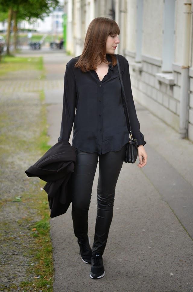 chemise soie zara nike air max thea pantalon simili cuir