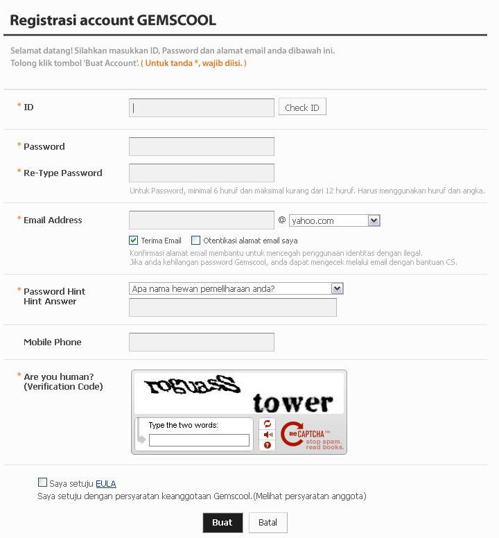 Kemudian silahkan buka halaman http://gemscool.com/member/register.php ...