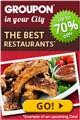 Enjoy discount with a Groupon voucher for some of the best restaurants in town