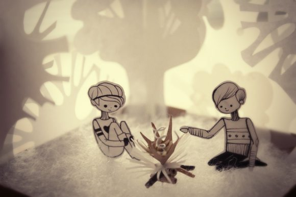 paper diorama,weirdamiga, weird amiga, illustrated diorama