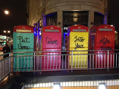 London telephone booths