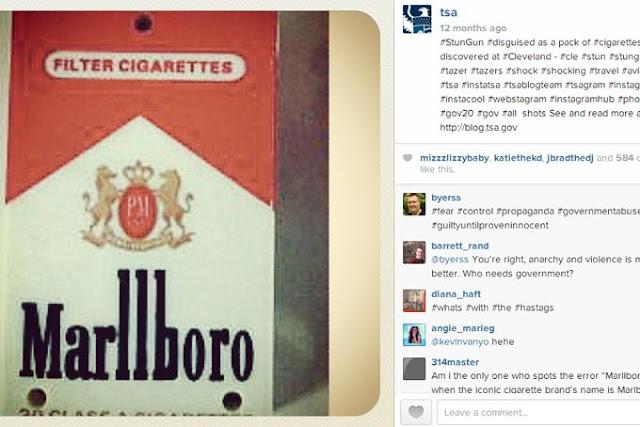 Cigarette stun gun