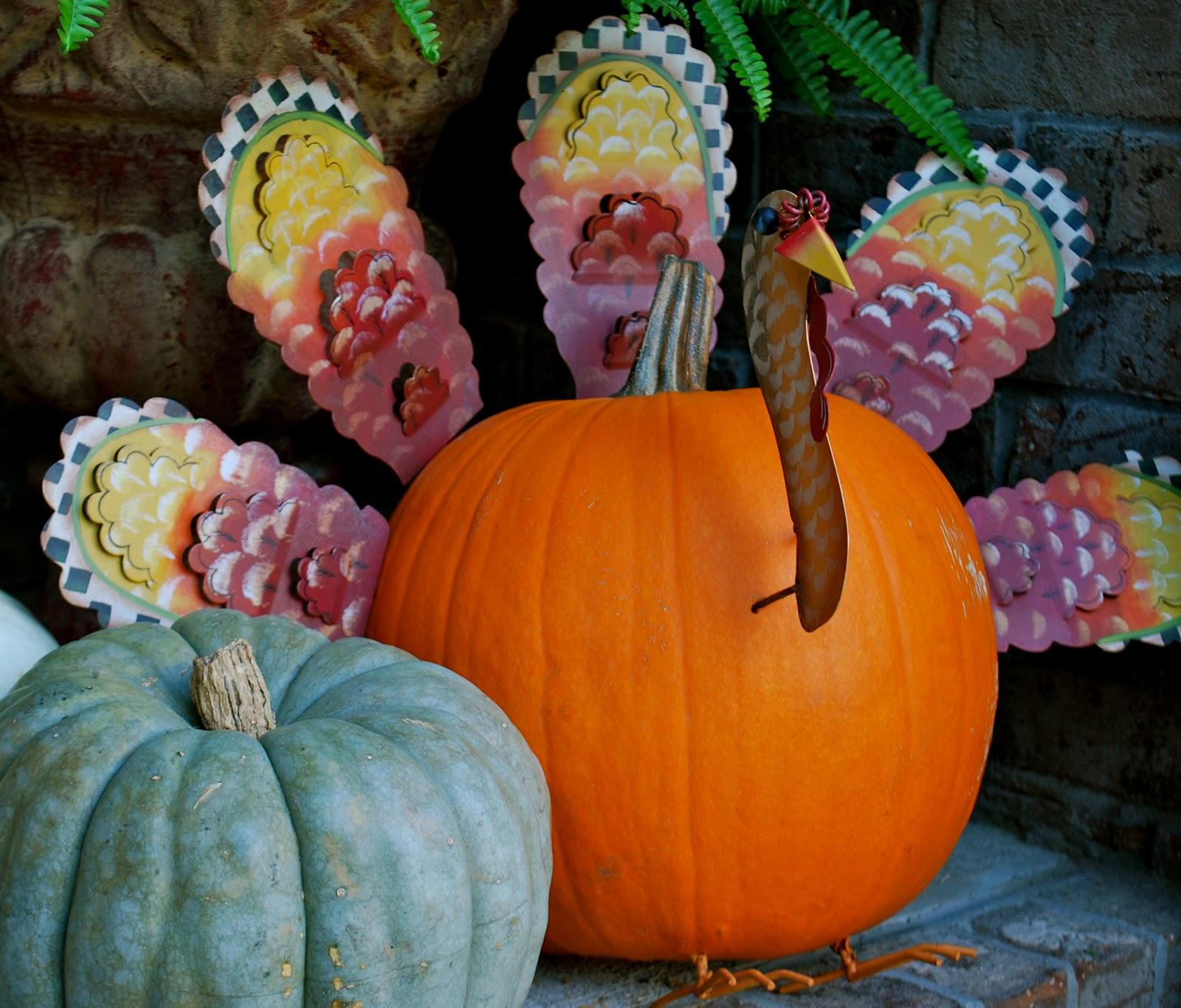 Turkey pumpkin amanda jane brown for How to decorate a pumpkin for thanksgiving
