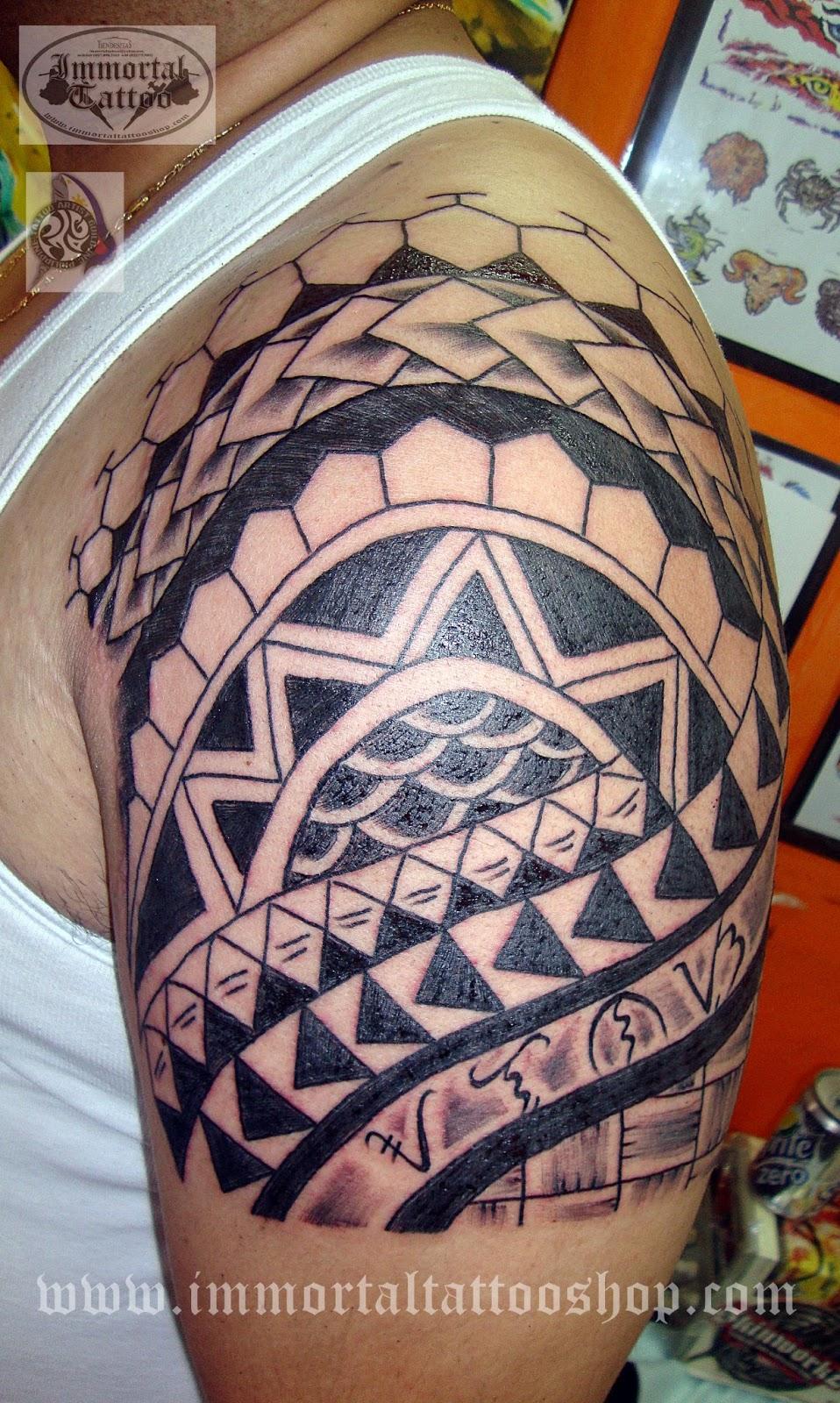 ... tattoo and his last name Alonzo, translated in baybayin(alibata) an