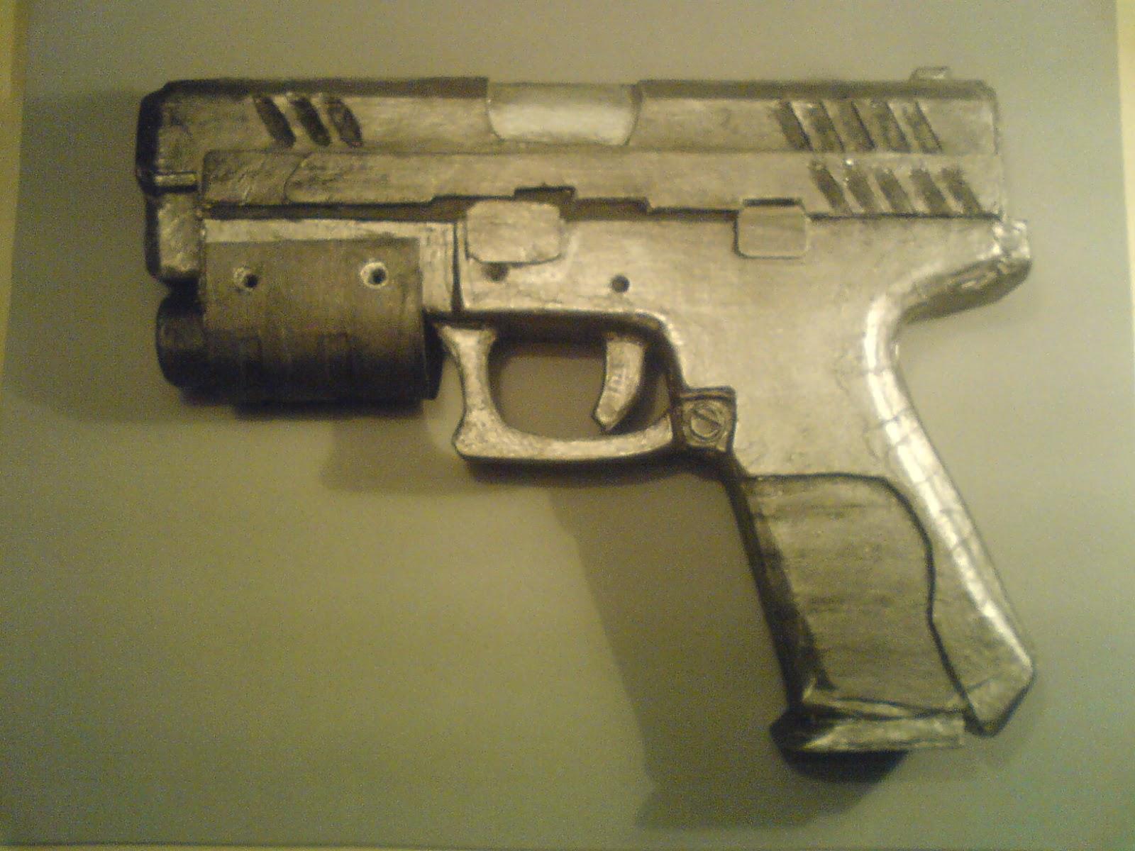 Pistola Blacktail - Resident Evil DSC04501