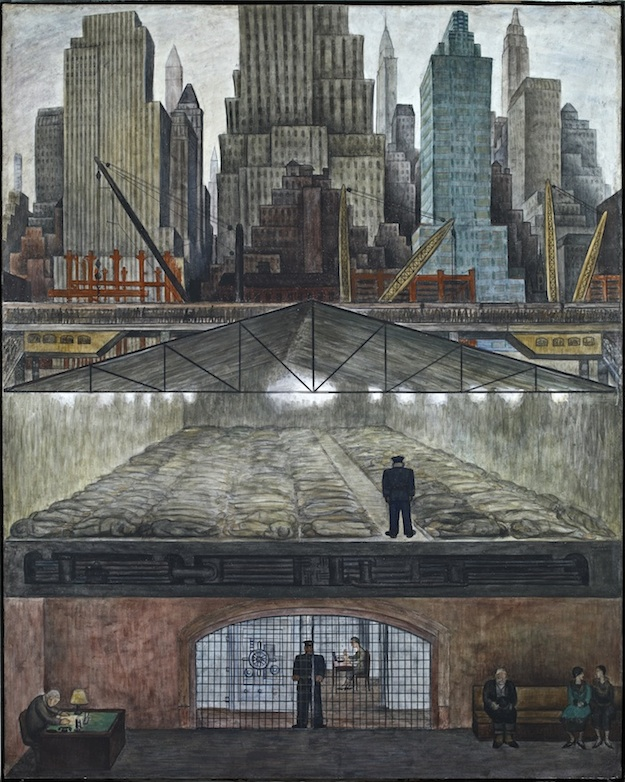 Manual labor diego rivera paints new york city for Diego rivera rockefeller center mural