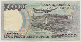 Pecahan 50000 Rupiah emisi 1993