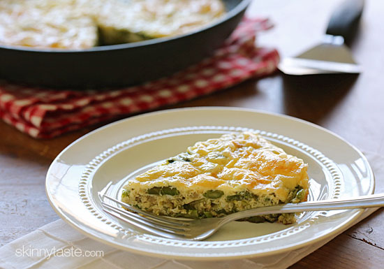 Travel Health Insurance: Asparagus and Swiss Cheese Frittata