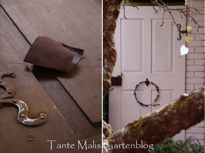 Jetzt Ist Türe Nummer Drei In Den Garten Eingezogen, Eine Alte Dame, In Der  Noch Handgeschmiedete Nägel Stecken.