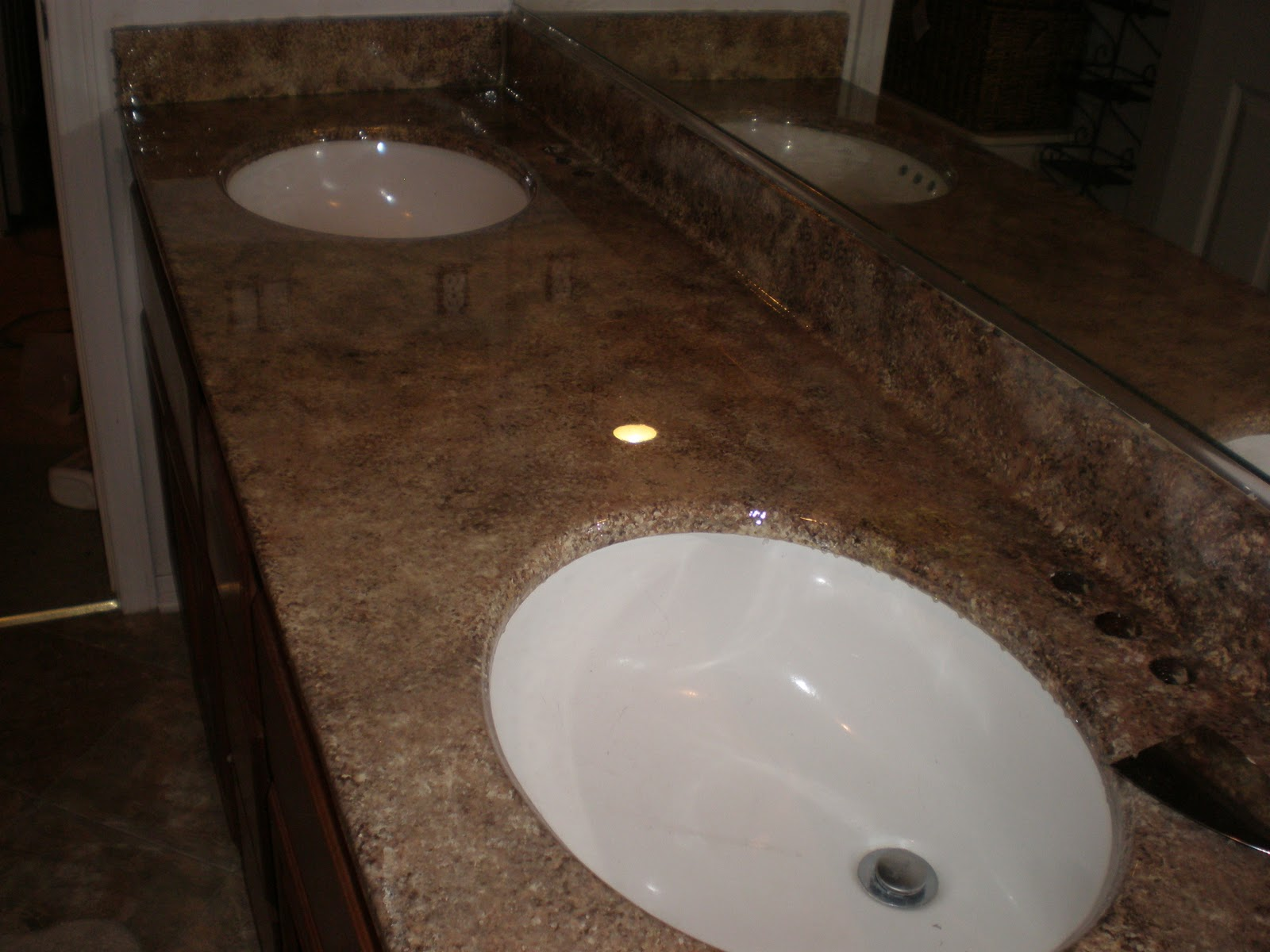 How to paint bathroom countertops - Faux Granite Countertop For Less Than 25 Bucks