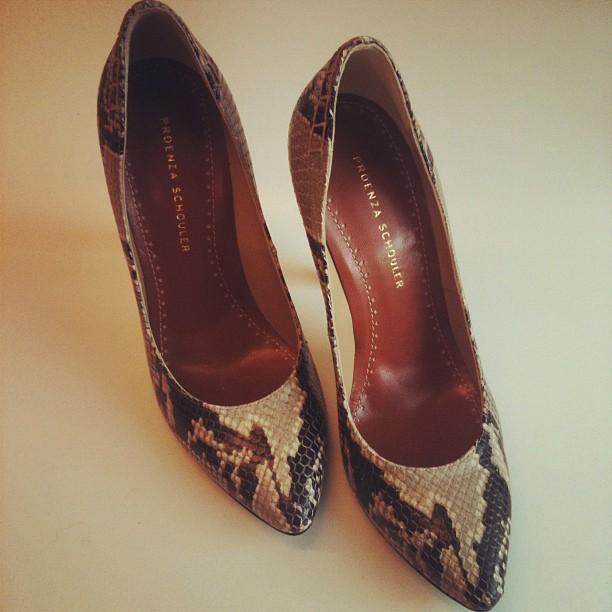 proenza schouler snake skin shoes