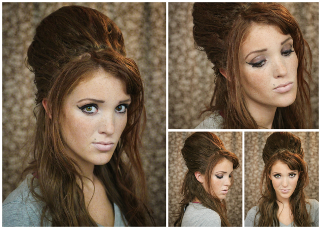 The Freckled Fox Hair Tutorial Amy Winehouse Beehive
