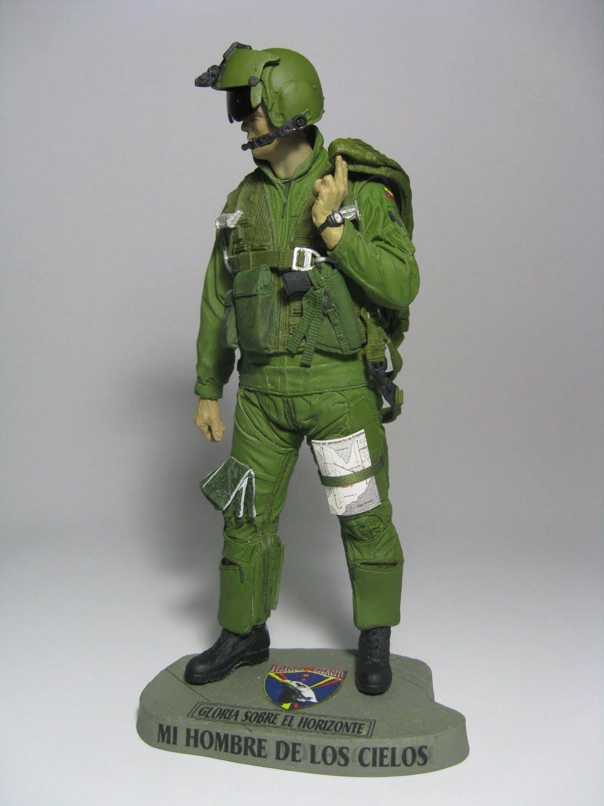Figuras Militares Piloto Militar Y Tecnico De Aviaci N