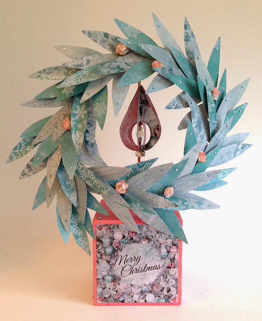 paper eucalyptus wreath by lisa fulmer