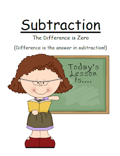 Fern Smith's FREE Math Subtraction Center Game ~ The Difference is Zero Concept!