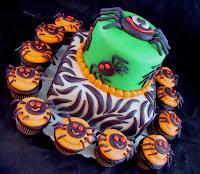 pastel arañas halloween