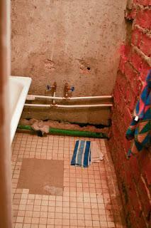 совковая плитка в ваной комнате до ремонта
