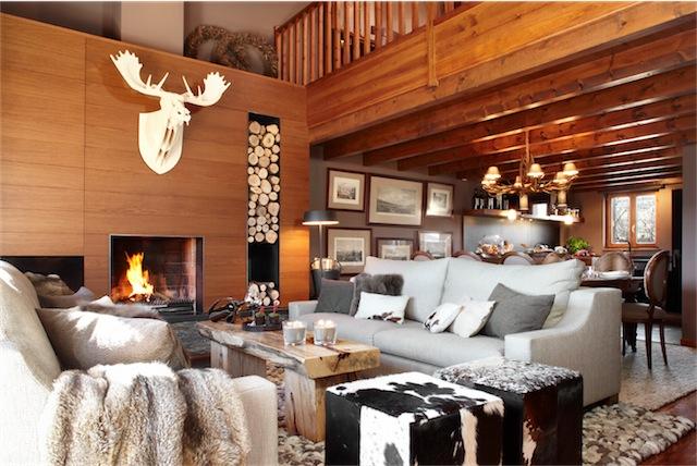 Interiorismo de alta monta a interior design of high - Decoracion rustico chic ...