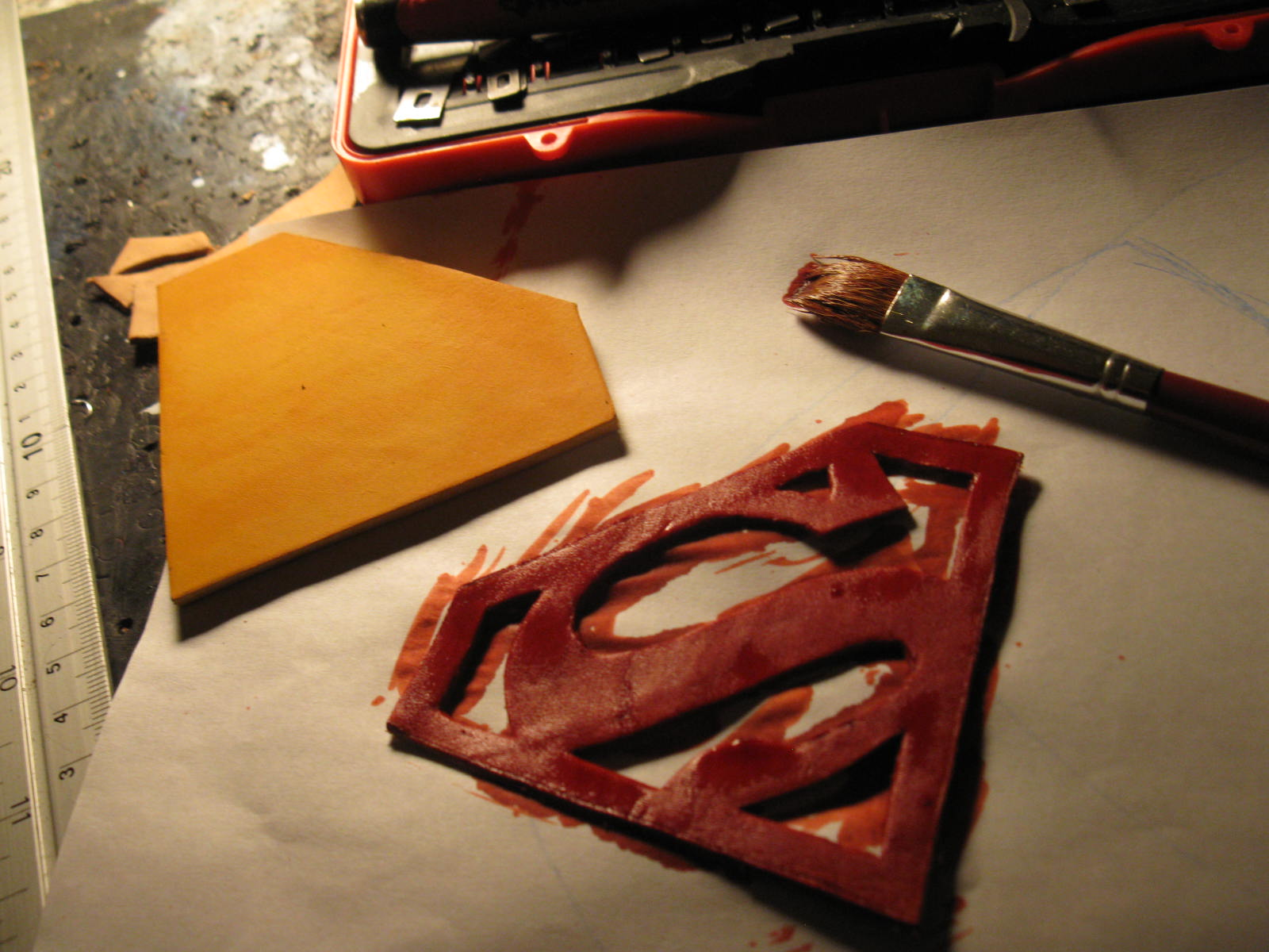 Leather Superman Dog Collar