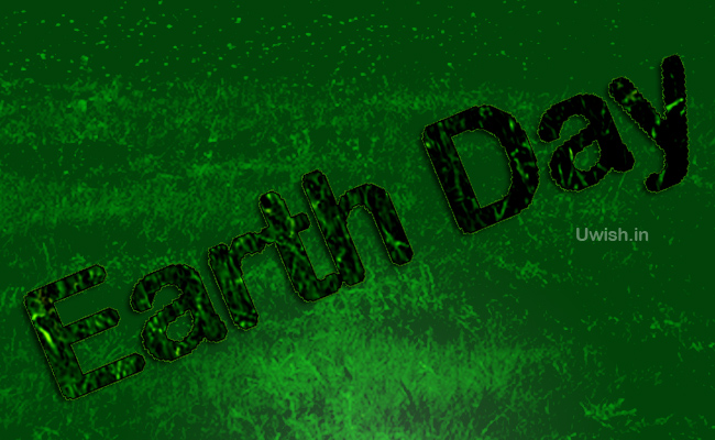Earth day e greeting cards and wishes with grasses