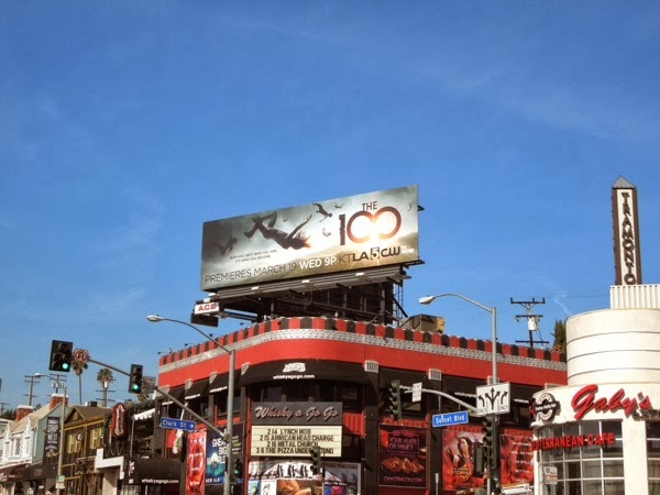 The 100 season 1 billboard Sunset Strip