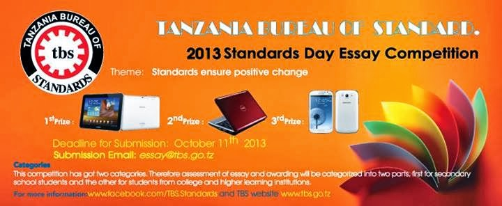 STANDARDS DAY ESSAY COMPETITION for   the year 2013