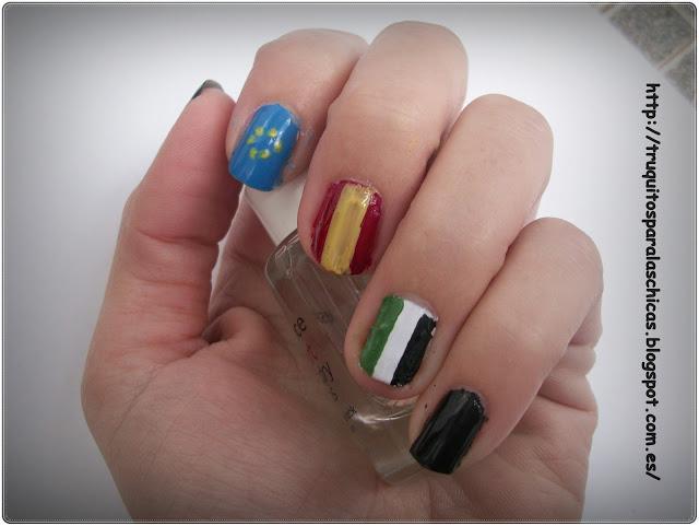manicura banderas