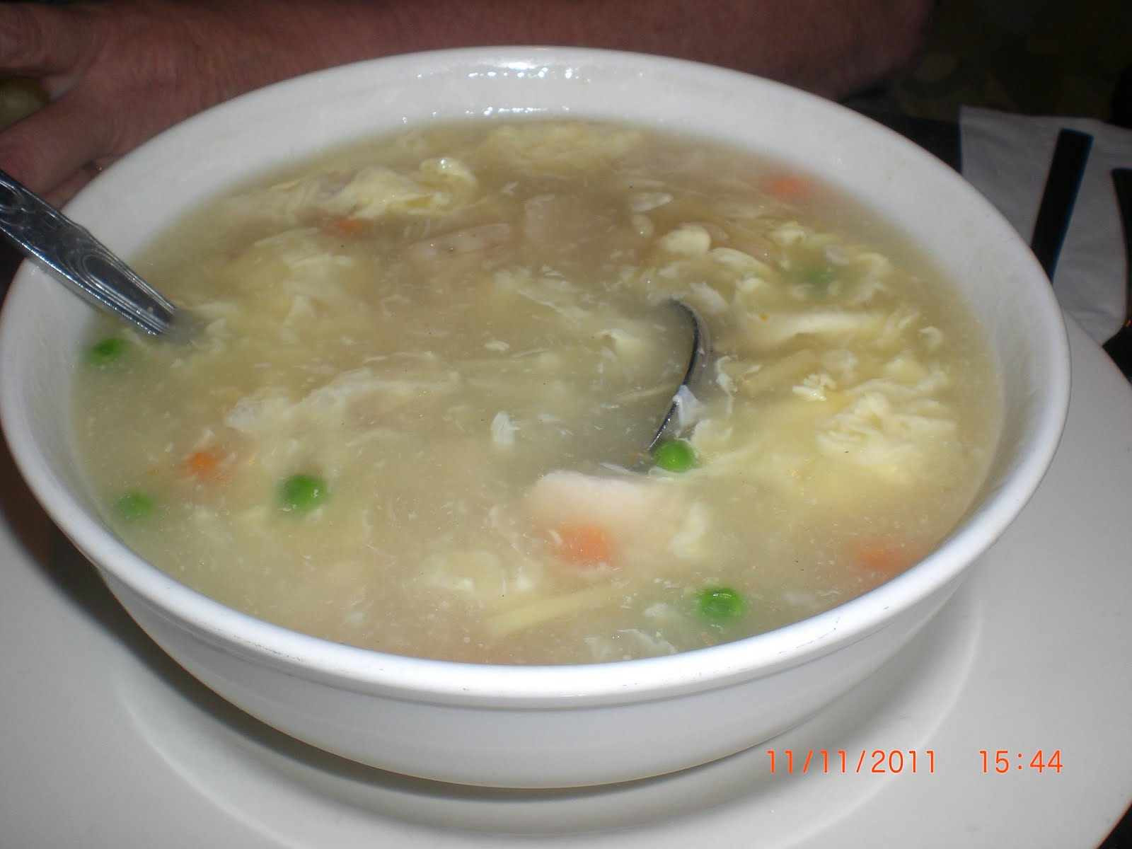 Chinese Egg Drop Soup The eggdrop soup has a broth