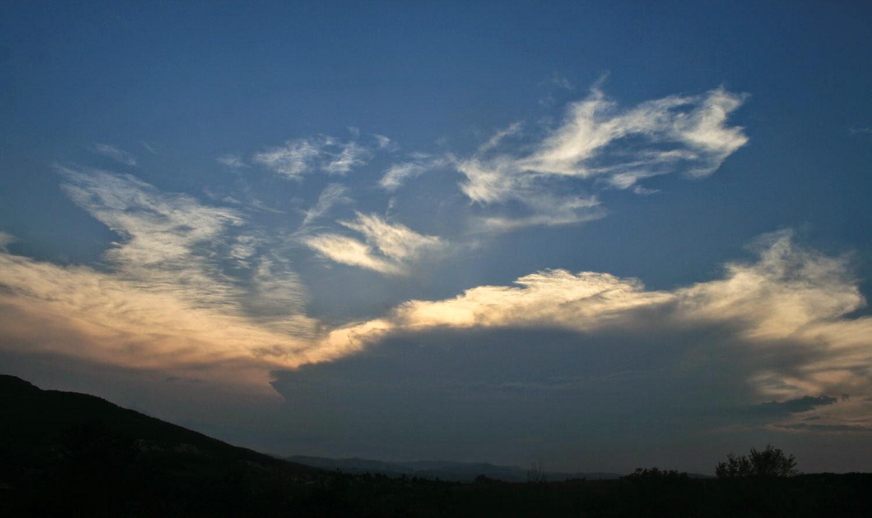 Gorgeous backlit clouds