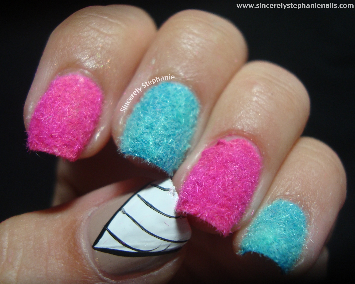 Candy Nail Art Cotton Candy Couture