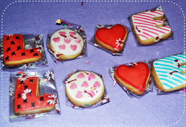 Galletas San Valentin L O V E
