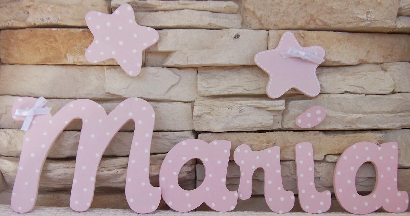 Decoraci n infantil pekerines letras de madera para beb s - Letras de madera para decorar ...