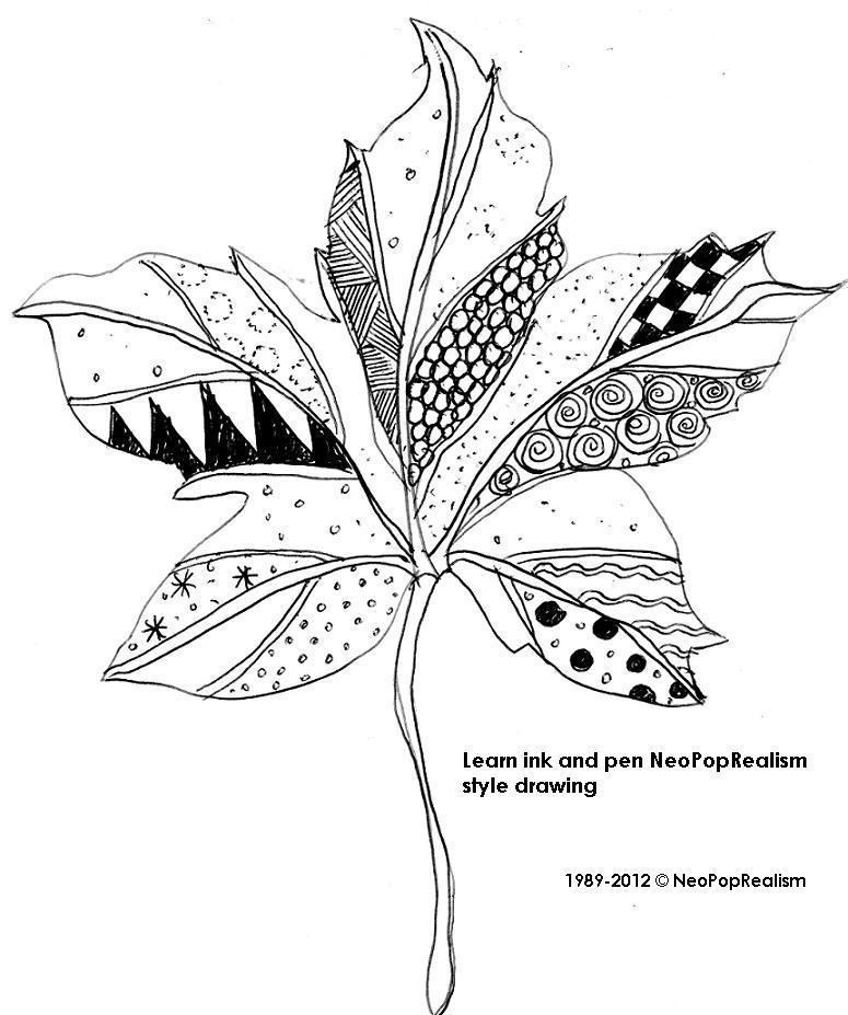 рисунок листков