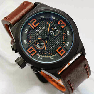 Oakley Chronograph Brown Orange