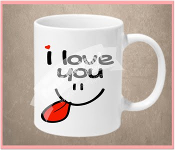 I love you face mug