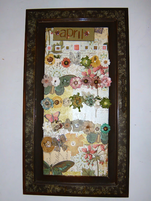 Floral theme cabinet door calendar