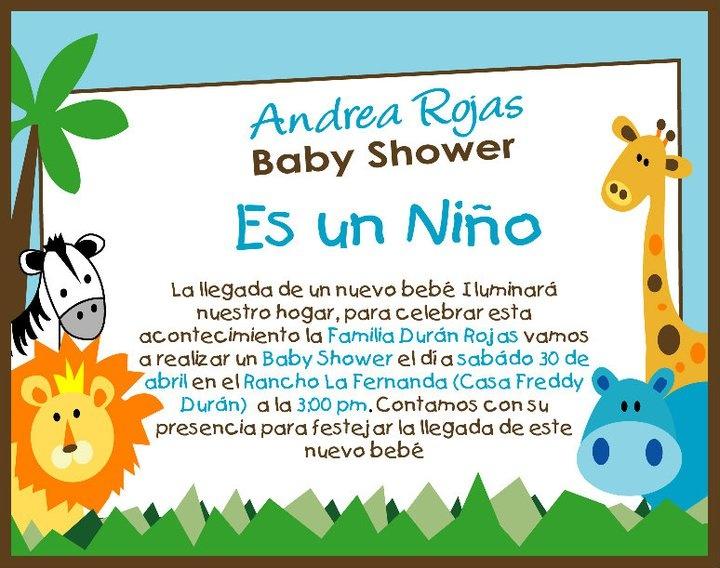 Tarjetas De Invitaci 243 N Para Baby Shower Ni 241 O Baby Shower