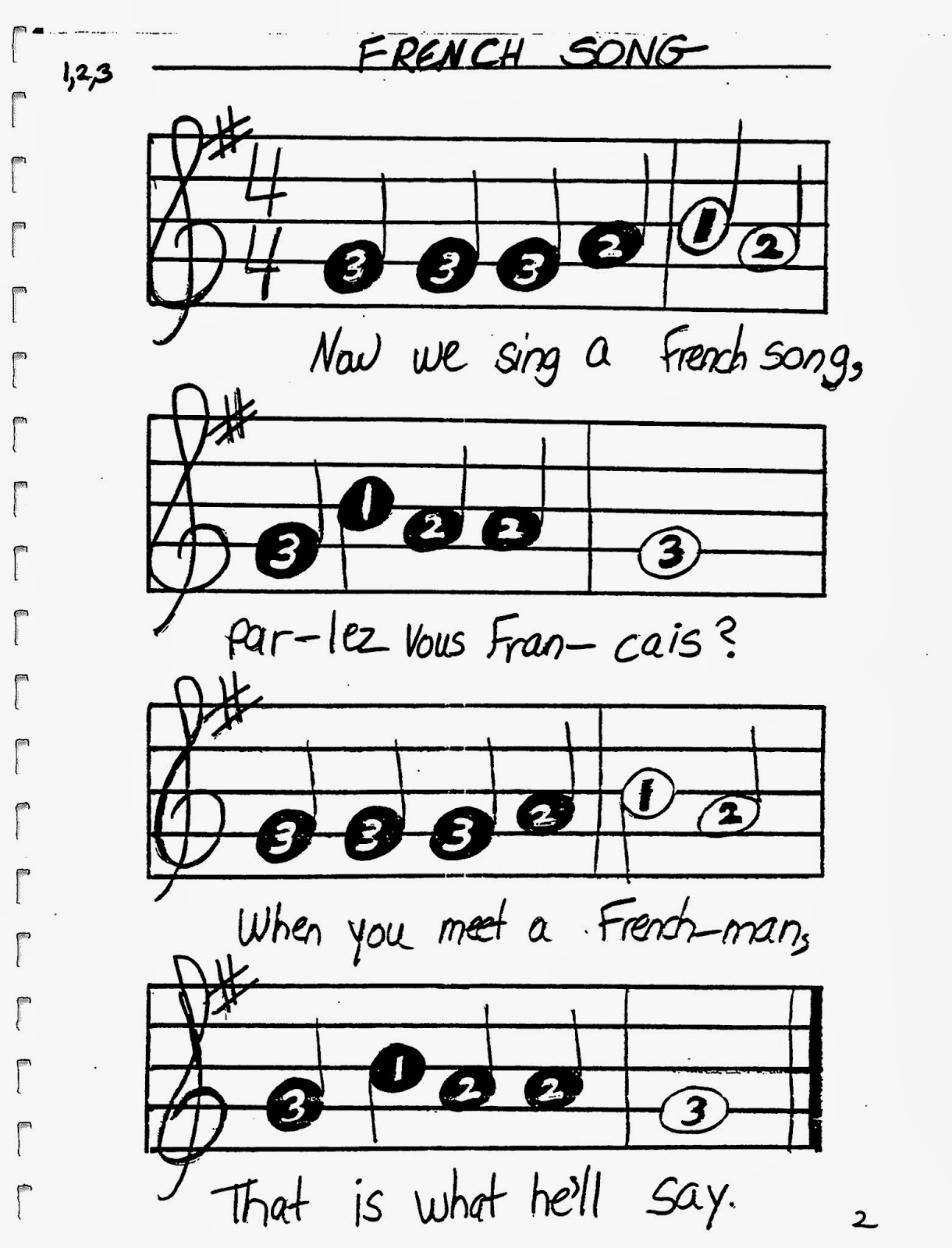 Miss Jacobson\'s Music: TONETTE SONG BOOK: PAGES 1-10