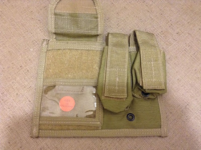 LONDON BRIDGE TRADING LBT-6064B TAN LARGE ADMIN POUCH close front