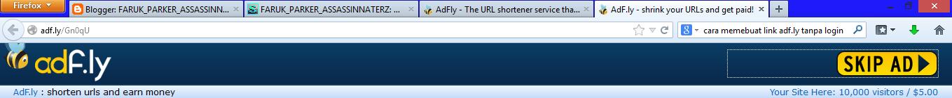 Cara Melewati Situs Adf.ly Terbaru