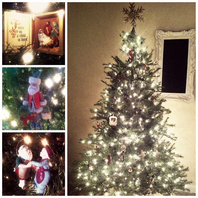 Christmas tree and Hallmark ornaments