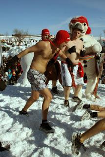 Carnaval de Quebec, baño de nieve