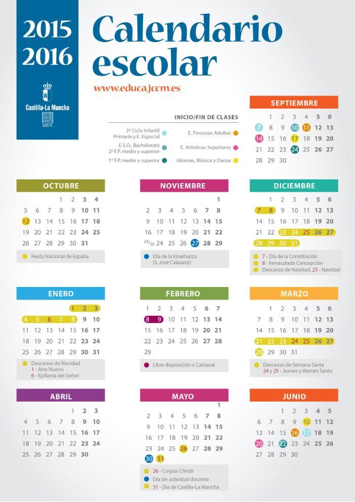 """... for """"Calendario Escolar De Al Sep 2015 2016"""" – Calendar 2015"""