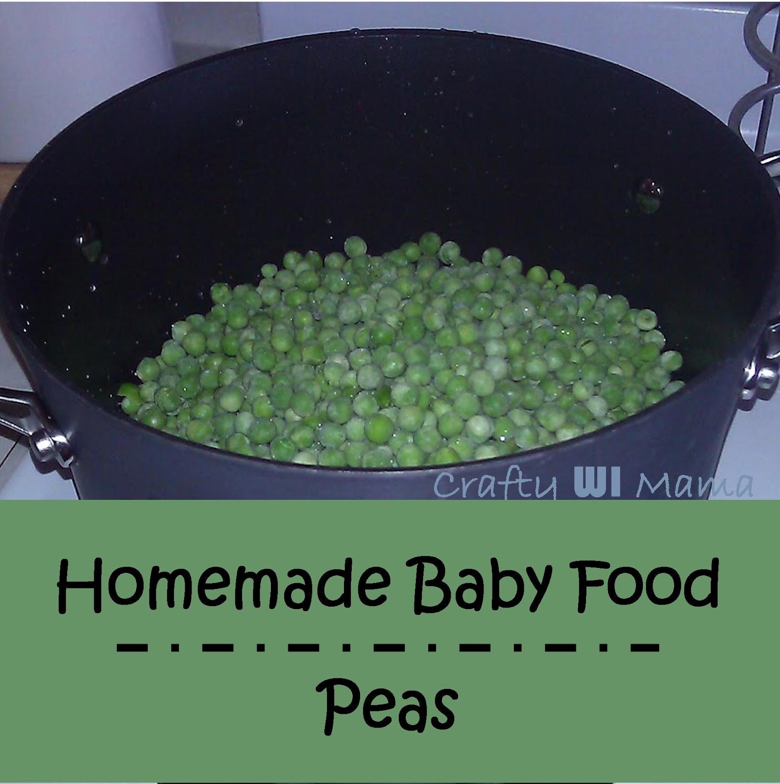 Crafty wi mama diy homemade baby food frozen peas why did i not think of this before seriously i feel like kicking myself making baby food from frozen veggiesfruit is so much easier forumfinder Image collections
