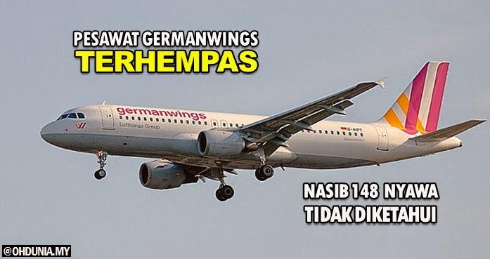 Pesawat Germanwings terhempas, nasib 148 nyawa tidak diketahui